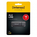 USB Stick 2.0 (USBDRIVE) ALU LINE, anthrazit, 16 GB