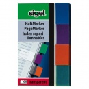 sigel Haftmarker Transparent, mint/orange/violett/türkis...